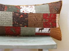 Autumn Decor/Northwoods Decor/Quilted Pillow Cover. $40.00, via Etsy.