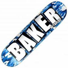 Baker Skateboards Reynolds Brand Name Blue Camo Skateboard Deck Blank Skateboard Decks, Skateboard Shop, Skateboard Design, Baker Skateboards, Custom Skateboards, Skate Store, Custom Decks, Skate Decks, Boards