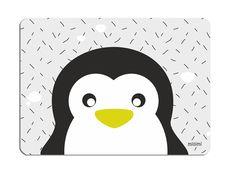 Glückwunschkarten - Postkarte Pinguin blau grau millimi 2x - ein Designerstück von millimi bei DaWanda