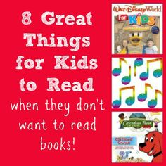 Fun ideas to keep kids reading when they don't want to read a book!