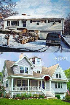 1000 images about before afters on pinterest split for Split level remodel before and after
