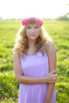 Abby Williams photography #senior #photos #flower #crown