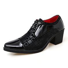 Men's Oxfords Formal Shoes Dress Shoes British Style Plaid Shoes Casual Classic British Daily Party & Evening PU Non-slipping Height-increasing Red White Black Fall Winter 2021 - US $49.34 Formal Shoes, Casual Shoes, Versace Loafers, Oxford Online, Tartan, Style Retro, Plaid Fashion, British Style, Vintage Shoes