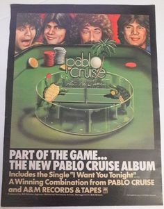 Pablo Cruise Music Ad Part Of The Game Hit Album Full Page Color