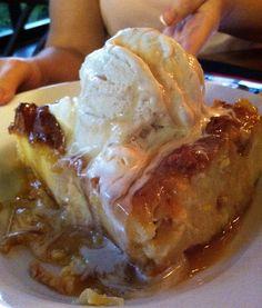 Bread Pudding w/Banana Fosters Ice cream Ohana
