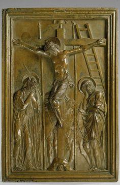 Donato di Niccolo BARDI dit DONATELLO (Florence, vers 1386 - Florence, 1466)  La Crucifixion  Bronze  H. : 46 cm. ; L. : 28,80 cm.  Legs comte Isaac de Camondo, 1897  Bas-relief    Musée du Louvre   Paris
