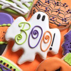 Ghost Cookies, Fall Cookies, Cookies For Kids, Iced Cookies, Cut Out Cookies, Cute Cookies, Royal Icing Cookies, Sugar Cookies Recipe, Holiday Cookies