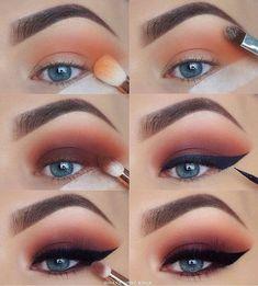 60 Easy Eye Makeup Tutorial For Beginners Step By Step Ideas(Eyebrow& Eyeshadow)., 60 Easy Eye Makeup Tutorial For Beginners Step By Step Ideas(Eyebrow& Eyeshadow). 60 Easy Eye Makeup Tutorial For Beginners Step By Step Ideas(Eyebr. Bronze Eye Makeup, Eye Makeup Steps, Smokey Eye Makeup, Makeup Eyeshadow, Eyeshadow Ideas, Eyeshadow Palette, Eyeshadow Makeup Tutorial, Tape Makeup, Makeup Monolid