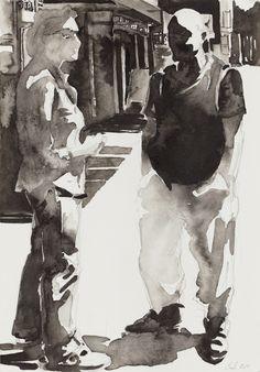 Barbara Bolt - Passing By on Art.Base.BASE Silent Majority, Vanishing Point, David Hockney, Art Base, London Art, Saint George, Digital Photography, September 10, Gallery