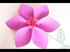 Flores gigantes de papel muy faciles de hacer / Decoraciones para fiestas - YouTube Big Flowers, Paper Flowers, Diy And Crafts, Crafts For Kids, Tropical Paradise, Projects To Try, Baby Shower, Bows, Make It Yourself