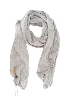Zusss gewafelde sjaal grijs-hetkadopakket