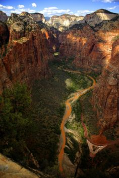 Looking north toward the Narrows from Angel's Landing in Zion National Park, Utah >>> I Love Zion! Have you been?