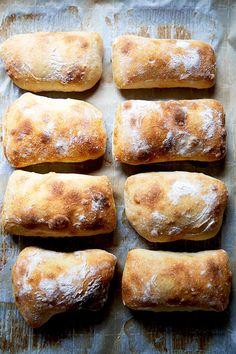 Simple Sourdough Ciabatta Bread   Alexandra's Kitchen Soft Sourdough Bread, Ciabatta Bread Recipe, Sourdough Rolls, Sourdough Pizza, Sourdough Recipes, Bread Recipes, Baking Recipes, Bread Baking, Bread Oven