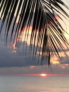 Sunset on 7 my beach Grand Cayman