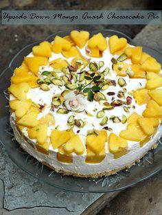 No Bake Upside Down Mango Cheese Pie