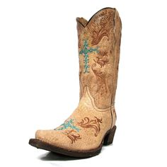 Corral Distressed Tan Turquoise Cross Youth Boots A2855 Kids Boots, Cowboy Boots, Youth, Turquoise, Stuff To Buy, Life, Shoes, Fashion, Moda