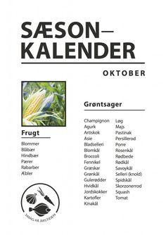 Sæsonkalender Oktober | Smag På Årstiden