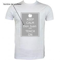 Regalo para profesor. Camiseta personalizada Precio 11.50€
