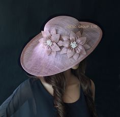 Heather pink purple Sinamay Hat Fascinator saucer fascinator hat for Ascot Races,Kentuck derby,Melbourne cup,wedding
