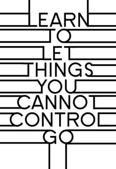 Letting things go...