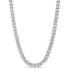 Miadora Signature Collection 14k Gold 9 1/5ct TDW Diamond Tennis Necklace, Women's