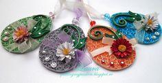 quilling my passion: decoratiuni pentru paste/easter decorations Paper Quilling Patterns, 3d Quilling, Quilling Jewelry, Quilling Flowers, Quilling Cards, Jewelry Wall, Paper Jewelry, Paper Beads, Quilling Christmas