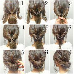 Penteado fácil que dá pra ser feito tanto em cabelos longos como mais curtos! . . . #hair #hairstyle #instahair #cabeloslindos #penteados #dica #ficaadica #cabelos #curtos #longos #salão