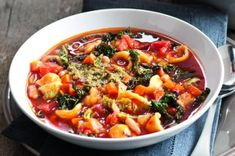 Mozzarella, Pesto, Soup Recipes, Chili, Cooking, Health, Ethnic Recipes, Food, Indie