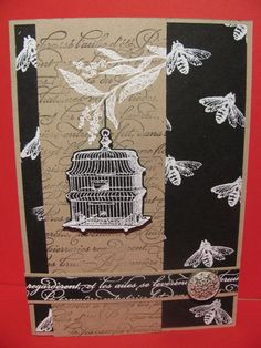 Day 10 - Heat embossing using a toaster! #stampinup