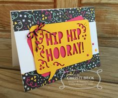 StampinTX: Hip, Hip, Hooray Birthday Card