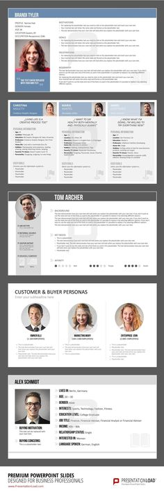 Buyer Persona templates for PowerPoint will help you gather the information quickly and clearly in order to create an insightful image of your typical customer.