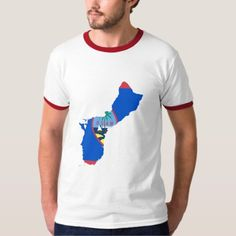 Guam MAP T-Shirt - click/tap to personalize and buy Ringer Tee, Casual Looks, Vintage Inspired, Fitness Models, Guam, Retro, Tees, Fabric, Sleeves