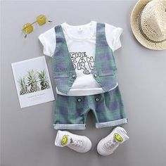Perfect for your little boy. Easy to wear and can be used casually. Cotton and polyester blend materials make the fabric comfortable and smooth for kids' sensitive skin. Pineapple Co, My Collection, Overall Shorts, Little Boys, Sensitive Skin, Gentleman, Overalls, This Or That Questions, Denim