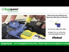 How to replace the side brush module on an iRobot Roomba vacuum cleaner, BuySpares 'how to videos'.