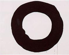 作品(白い地に黒い円)