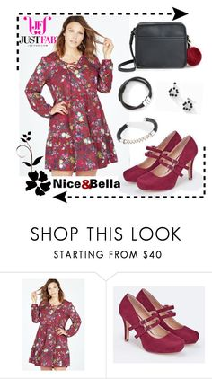 """""""Nice&Bella Jewelry/JustFab Apparel"""" by redrawlins ❤ liked on Polyvore featuring JustFab, justfab and niceandbella"""