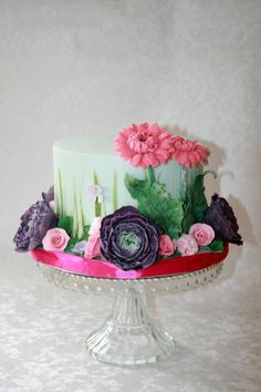 It's all about the flowers - Cake by Alison Lee
