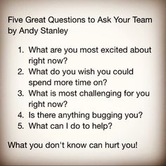Ways to check up on your team [andy stanley] Leadership Coaching, Leadership Development, Leadership Quotes, Work Goals, Job Interview Tips, Instructional Coaching, Work Motivation, Team Building Activities, Ppr