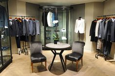 On the first floor, Lanvin's runway, sportswear, and accessories collections are posed on minimalist furnishings and wall fixtures. house design, exclusive designs, shopping guide, exclusive furniture, high end furniture