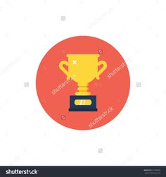 Winner Cup Trophy Icon. Modern Flat Style Vector Illustration. - 515190385 : Shutterstock