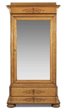 A CHARLES X MIRROR CABINET. 19th Century