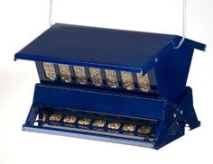 Heritage Farms Electric Blue Absolute Ii Squirrel Proof Bird Feeder for sale online Bird Feeders Amazon, Make A Bird Feeder, Wild Bird Feeders, Squirrel Resistant Bird Feeders, Finch Feeders, Indestructable Dog Bed, Wildlife Decor, Adjustable Weights, Pet Gate
