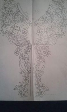 neckline embroidery pattern---caftan?