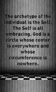 The archetype of the individual is the Self. The Self is all embracing. God is a circle whose center is everywhere and whose circumference is nowhere. ~Carl Jung, C.G. Jung Speaking; Interviews and Encounters, Pages 205-218