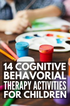 14 cognitive behavioral therapy activities for kids to help little ones recognize their negative thoughts and replace them with positive ones. Anger Management Activities For Kids, Group Therapy Activities, Anxiety Activities, Cognitive Activities, Counseling Activities, Health Activities, Activities For Children, Cbt Therapy, Therapy Worksheets