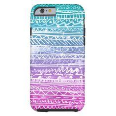 Aztec print iPhone 6 case ombre #iphone6case at http://www.zazzle.com/pastel_ombre_aztec_tough_iphone_6_case-256104982014591695?rf=238395237176455059