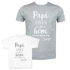 Camiseta para papás e hijos. Camisetas personalizadas para el día del  padre. Regalos originales 4a4c2e2cdcb5c