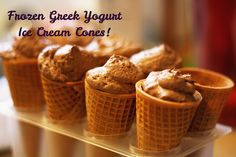 Because I can.: Frozen Greek Yogurt Ice Cream Cones