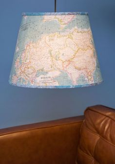Light Up the World Pendant Lamp. You aim to explore the unknown, so you were drawn to this hanging lamp with its unique map-printed lightshade! Retro Home Decor, Vintage Decor, Retro Vintage, Home Decor Lights, Light Decorations, Unique Maps, Novelty Print, Inspired Homes, Pendant Lamp