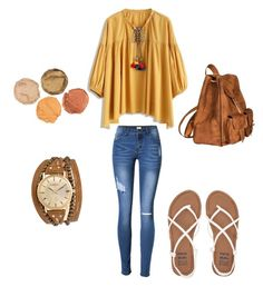 """Etnico folk"" by camila-radino on Polyvore featuring moda, Chicwish, Billabong, Yves Saint Laurent y Kahuna"